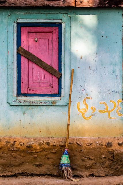 """window and broom, hsipaw, burma (myanmar)"" | Nell-Es"