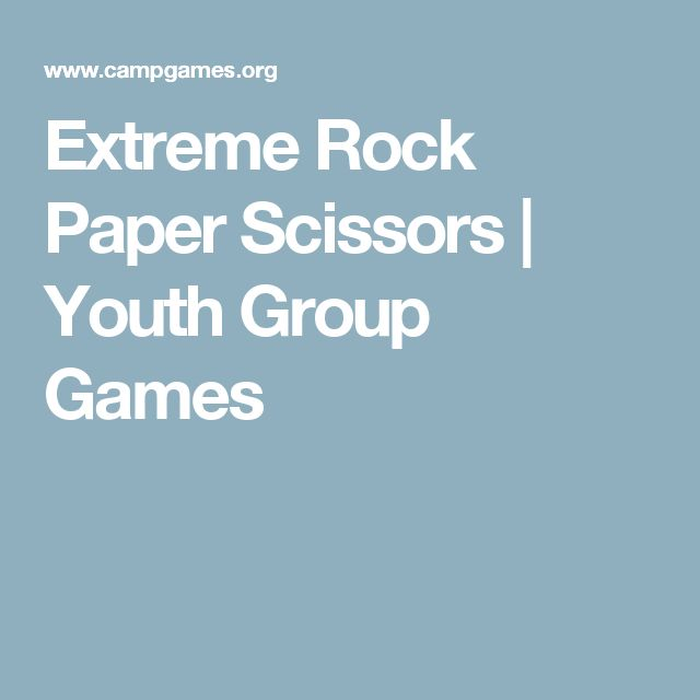 Extreme Rock Paper Scissors | Youth Group Games