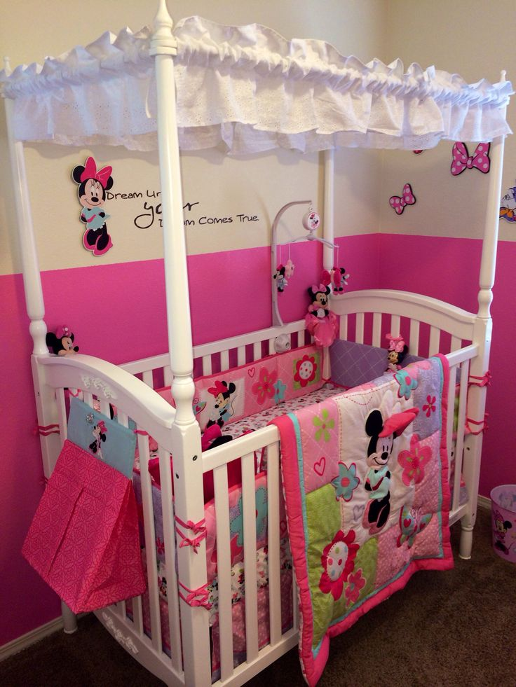 1000 images about minnie mouse nursery on pinterest for Baby crib decoration