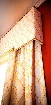 Brower Living Room - transitional - Window Treatments - New York - MICHELLE ZANGARI DESIGN, cornice, Suburban Home, Duralee