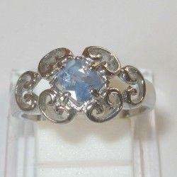 Cincin Wanita Silver Ring 7US Safir Ceylon Asli dan Berkualitas