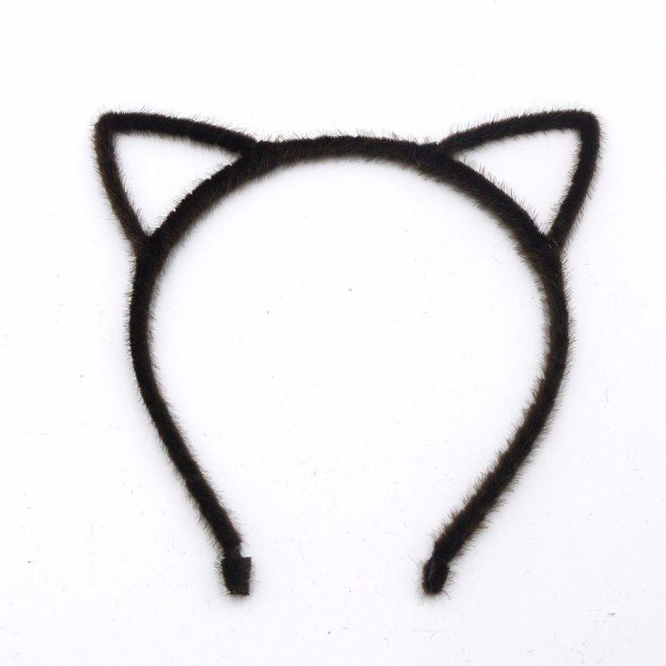 Diadema con Orejas de Gato en Negro