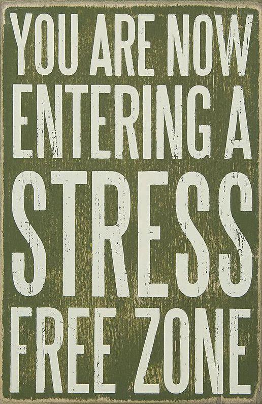 'Stress Free' Box Sign