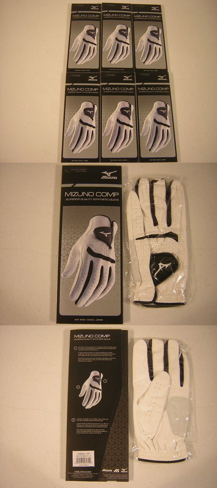 Mens gloves cadet - Golf Gloves 181135 New Mizuno Golf Comp Mens Gloves Size Cadet Large 6 Pack