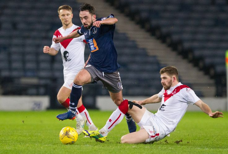 Queen's Park's Anton Brady in action during the Ladbrokes League One game between Queen's Park and Airdrieonians.