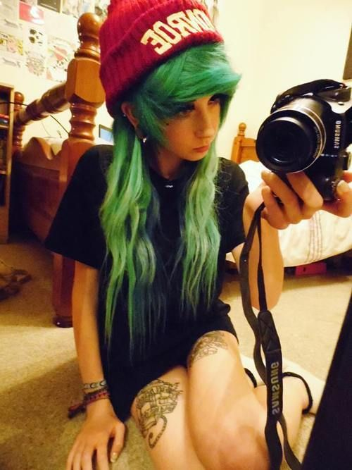 indie scene hair - Google Search