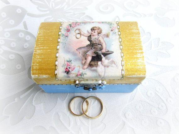 Ring Bearer Wedding Ring Box Rustic Ring Box Ring by GattyGatty