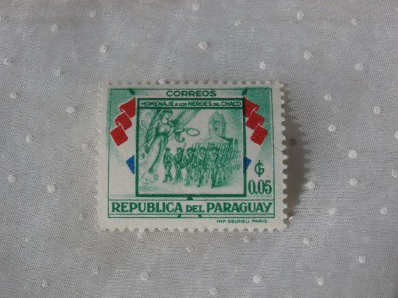 Republica del Paraguay Vintage 1950s Era Stamp by MendozamVintage
