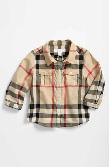 Burberry Check Print Shirt (Baby Boys) available at #Nordstrom