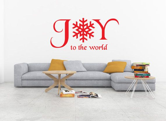 Joy to the world decal snowflake decal merry christmas decal merry christmas window