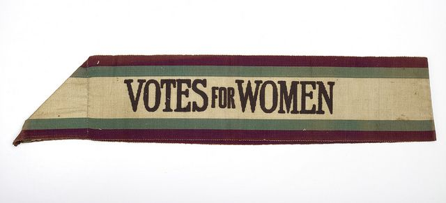 Nellie Hall's suffragette sash by Birmingham Museum and Art Gallery, via Flickr