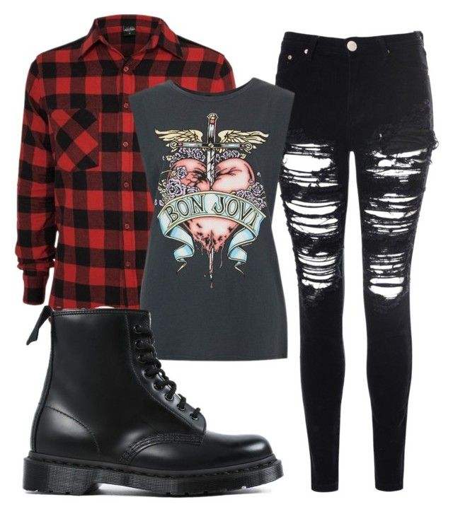 """Untitled #95"" by dark-shadowx ❤ liked on Polyvore featuring Glamorous and Dr. Martens"