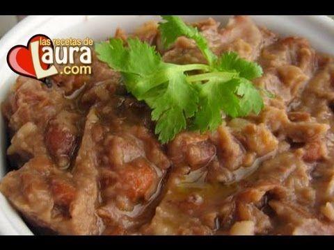 ▶ Frijoles refritos sin aceite Recetas Light Las Recetas de Laura Low Fat Refried beans - YouTube