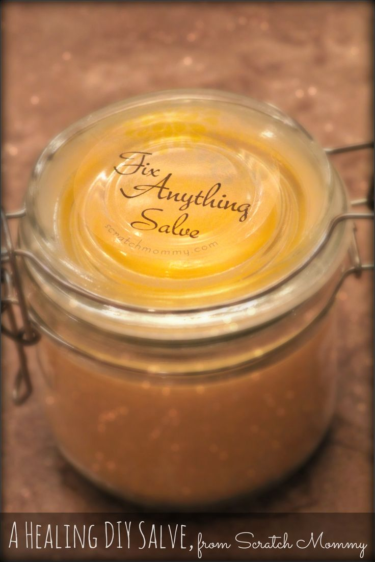 DIY 'Fix Pretty Much Anything' Healing Salve Recipe. Seriously...fix the following...... Rough elbows Dry feet Eczema patches Psoriasis Cuts Scrapes Burns Poison ivy Bug bites Sore muscles Bug repellant Antibacterial needs