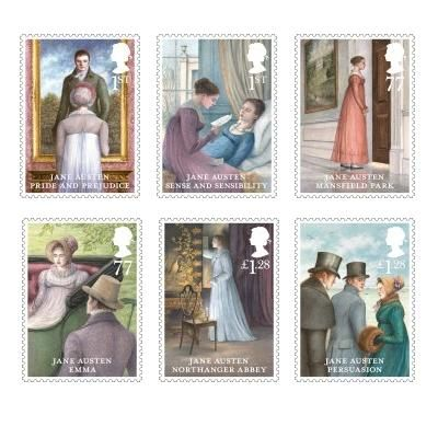 Jane Austen Stamp Set, Royal Mail