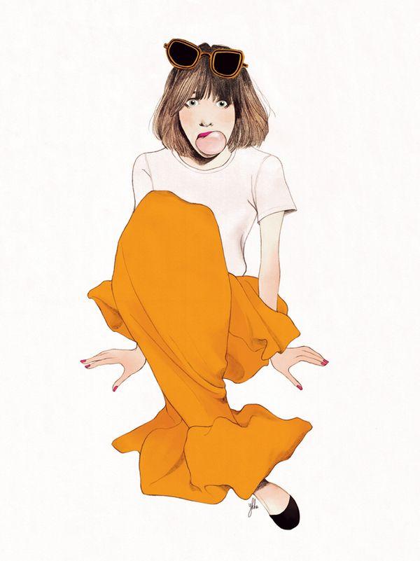 JIL SANDER for ELLE MAGAZINE Indonesia | #fashion  #illustration