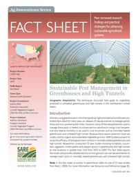 Sustainable Pest Management in Greenhouses and High Tunnels | SARE