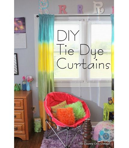 Diy tie dye curtains from queen size sheets