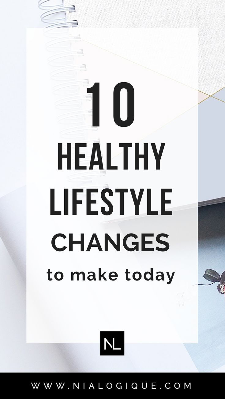 10 Healthy Lifestyle Changes You Can Make Today | Click through to learn how to implement positive changes into your life through healthy eating and self-love. | self-improvement, healthy tips, wellness, mental health, self-care, productivity