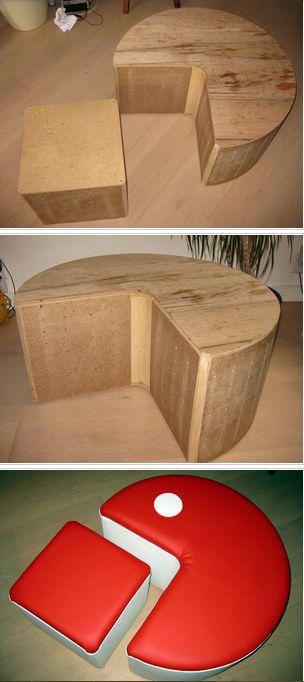 DIY Pac Man Hocker.