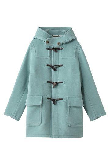 Mint Herringbone Melton Duffle Coat