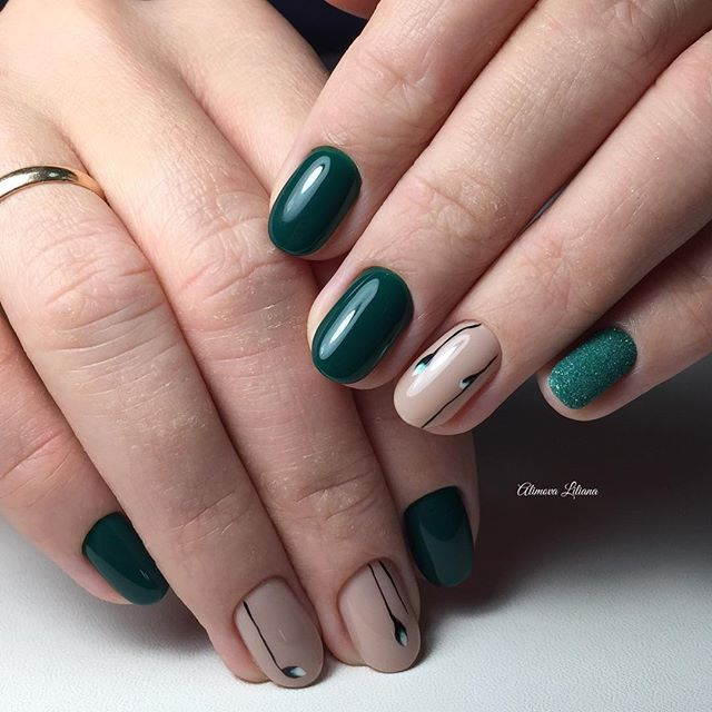 Nail Art #2813 - Best Nail Art Designs Gallery - The 25+ Best Dark Green Nails Ideas On Pinterest Dark Green Nail