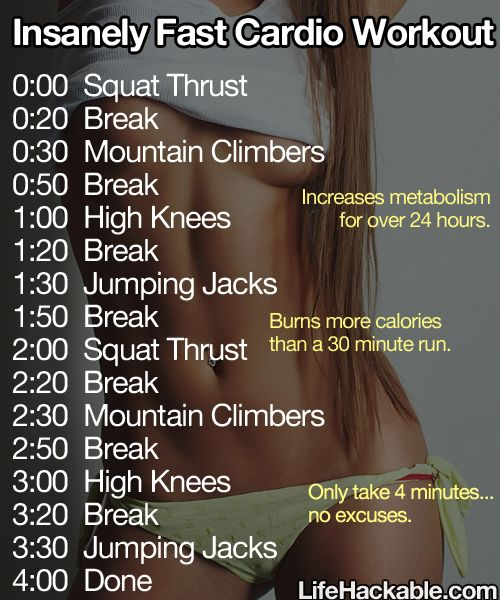 four minute workout! // Nice one. Now I must check if it actually burns more calories than a 30 minute run in ONLY 4 minutes. Honestly, it seems a little too much to me, but who knows? I'm no expert, after all :)
