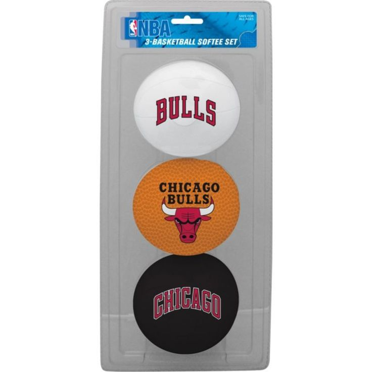Rawlings Chicago Bulls Softee Basketball Three-Ball Set, Team