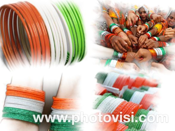Tri color bangles India Independence Day