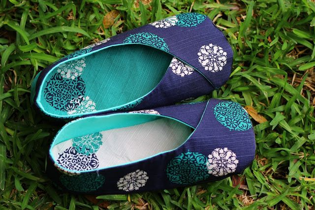 patron kimono shoes chaussons pattern ithinksew télécharger couture tissu women femmes