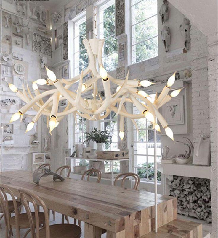 Deer Antler Chandelier Light Fixture Rustic Vintage Industrial Pendant Lamp Soleilchat RusticPrimitive