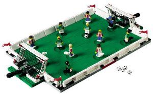 LEGO Soccer Championship Challenge (3409) by LEGO. $229.99. 274 pieces. Lego #3409. Amazon.com                Do you need to work on those dribbling and passing skills?  Soccer fans can practice anytime for the next World Cup with the LEGO  Championship Challenge soccer game. Construct an entire football field,  including goals and teams, with the 274 LEGO and LEGO-compatible  pieces. Each side has five clean-cut players plus a mysteriously  unshaven goalie. Ea...