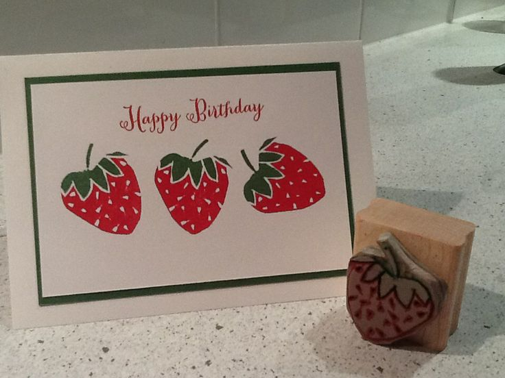 My own undefined stampin'-up strawberry