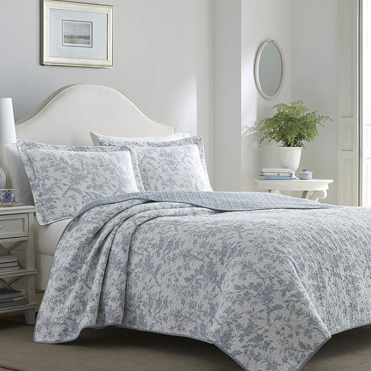 laura ashley home laura ashley soft blue amberly quilt set