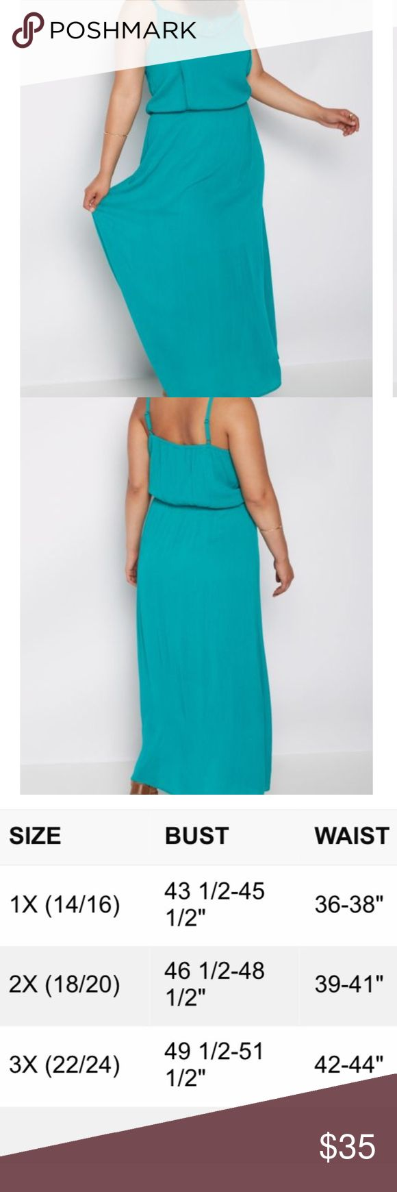 PLUS Turquoise Maxi Dress 1X Let loose in this carefree maxi dress made of airy gauze fabric. It's fashioned with elegant floral crochet across the neckline and down the bodice. Perfect with your favorite pair of boots! Add a jean jacket for instant style! Built-in lining Self: 100% rayon; Lining: 100% polyester Hand wash Model wears size 1X www.contemporarycowgirlbooteryboutique.com Contemporary Cowgirl Dresses Maxi
