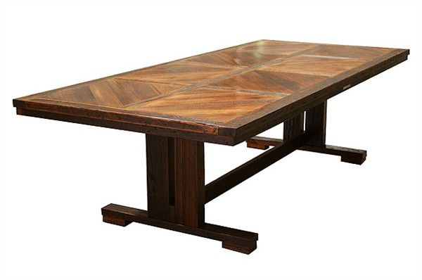 Jimmy Possum - Fletcher Dining Table 2.7m in recycled Victorian Ash, made in Bendigo. Seats 4 people comfortably down each side and two on each end