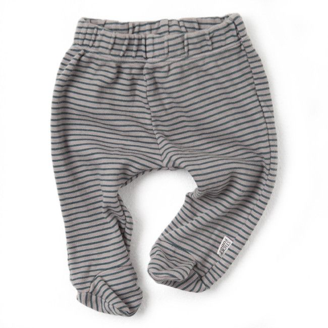 Cameron Leggings - Teal Stripe on Cinder from Mini Vie Market