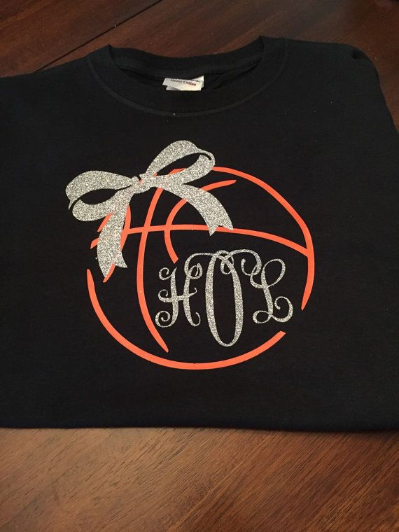 Basketball Monogram Tshirt by ForeverFunDesigns on Etsy