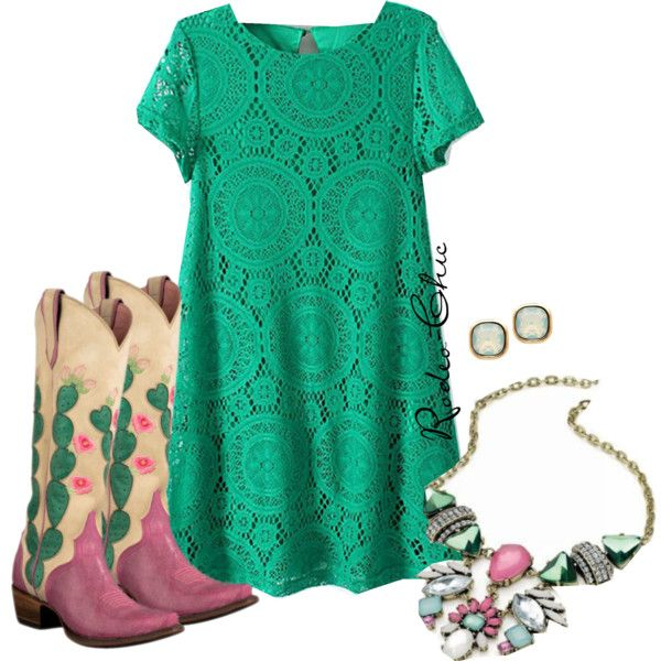 Hard to Handle by rodeo-chic on Polyvore; Pink Cactus Cowboy Boots by @laneboots; country, western