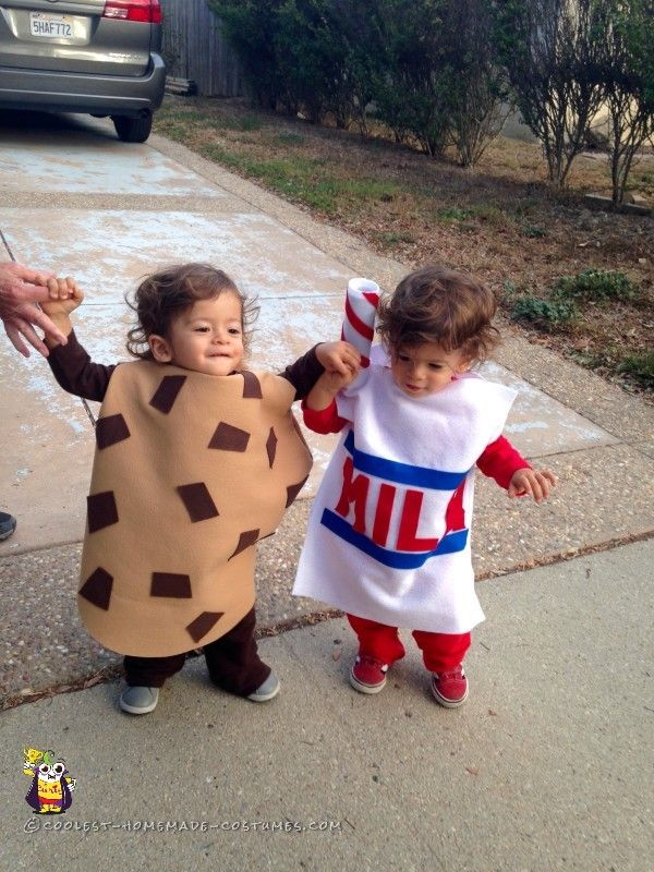 cutest cookies and milk costumes for twins baby halloween costumestoddler - Halloween Costumes For Preschoolers