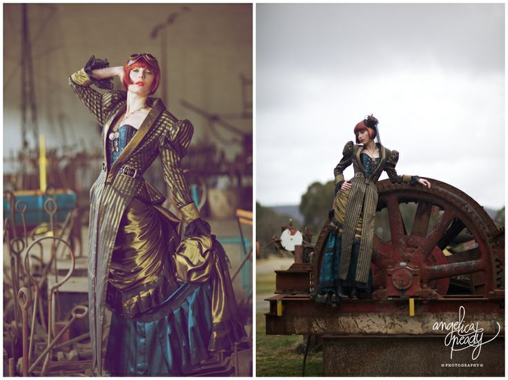 Fun steampunk shoot. Clothing by Gallery Serpentine Sydney. Filmed at State Mine Park Lithgow.