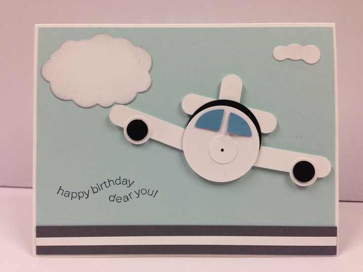 Airplane Punch ART Stampin UP 034 Birthday 034 Card KIT 5 Cards | eBay