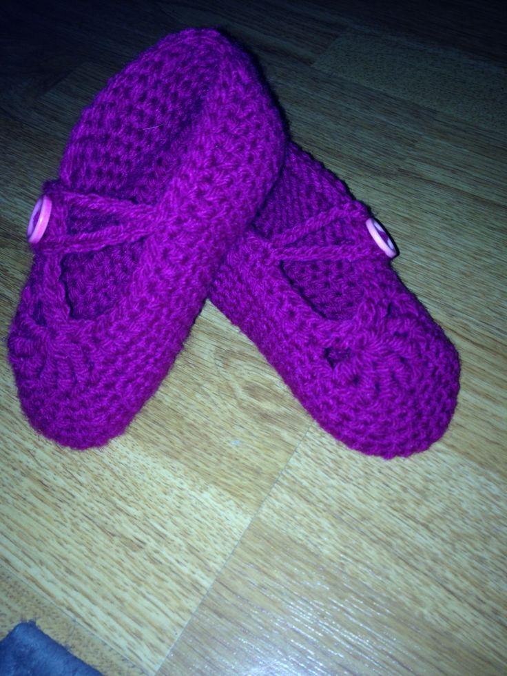 Crocheted slippers