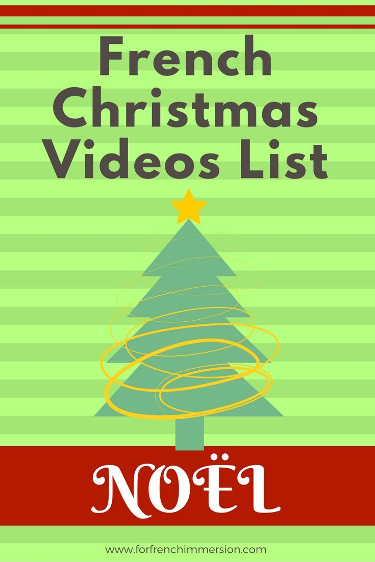 French Christmas videos list: Christmas-themed videos for your French classroom. Pour Noël!