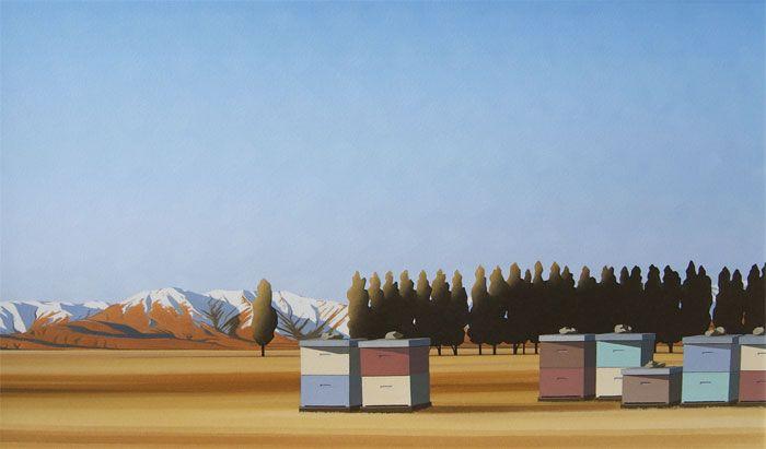 Brian Dahlberg // Ida Valley, Otago #Art #Landscape #Oil #Painting #NewZealand