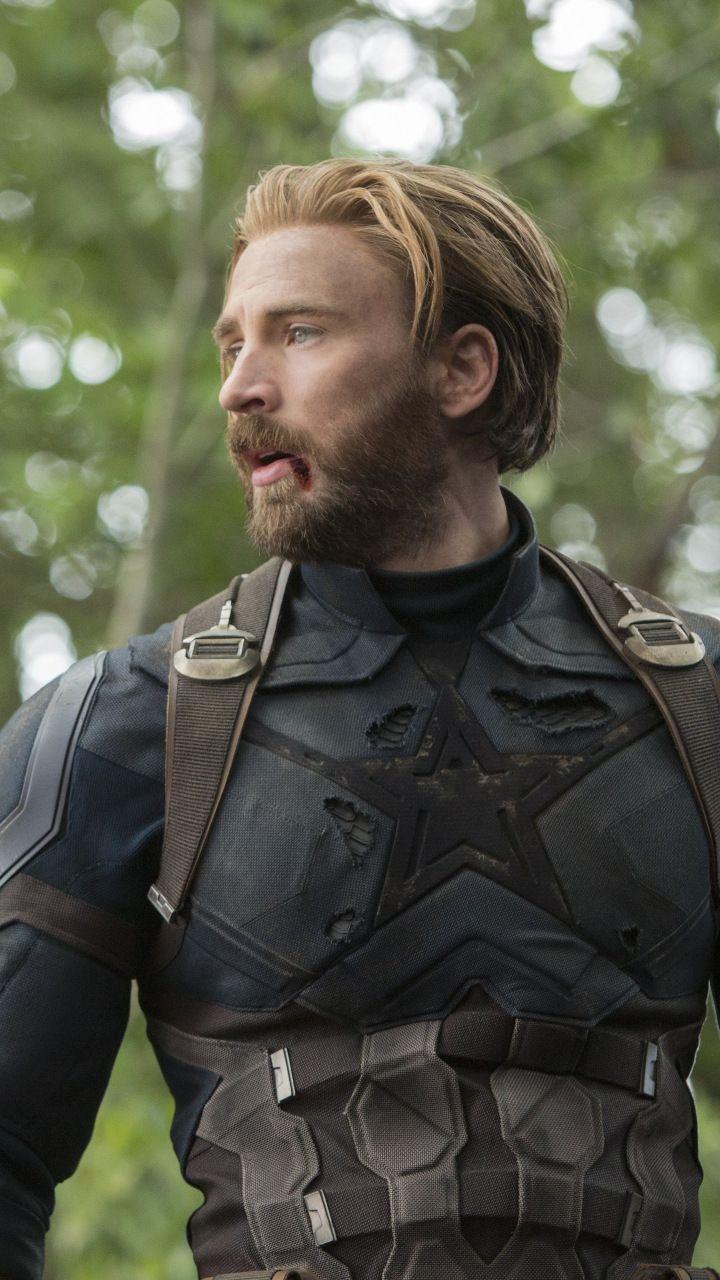 captain america, chris evans, avengers: infinity war, movie