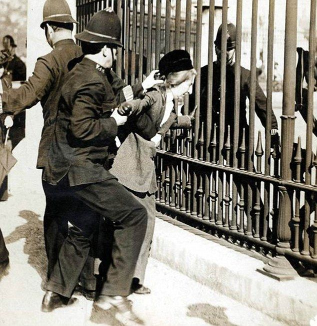 Suffragettes. Some of the women who were force fed in prison suffered Long-term health consequences for years to come