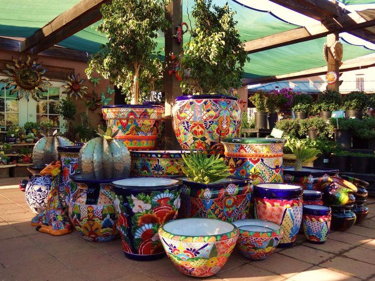 Talavera Pottery. Desert Garden Nursery.