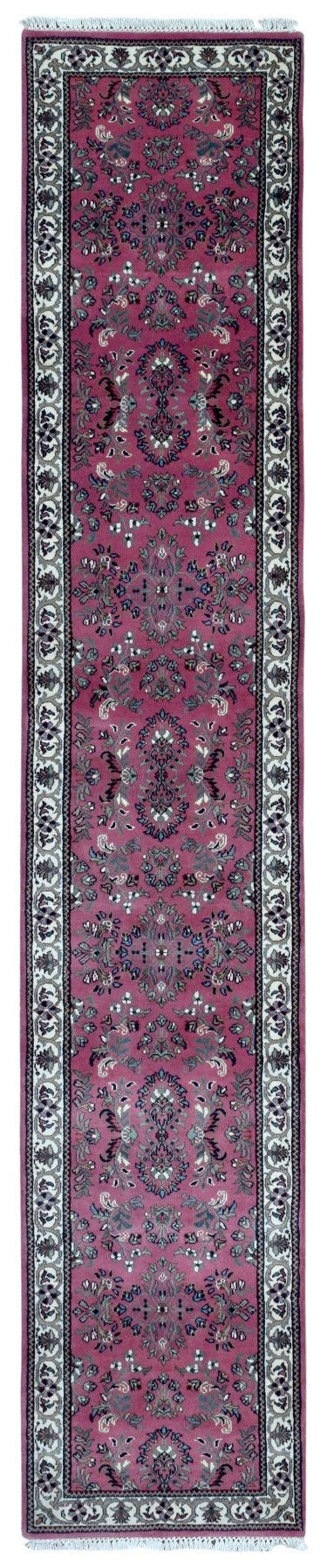 Fine Sarouk Oriental Long Runner Rug 2'X10'2