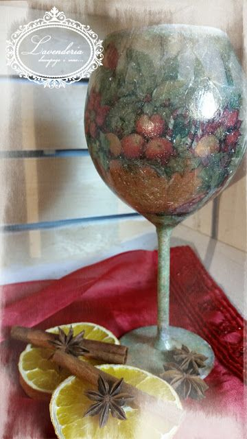 "Lavenderia - decoupage i inne: Lampion ""Ptaki na płocie"""